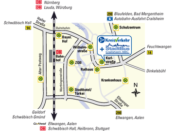 location of customer centre in Crailsheim
